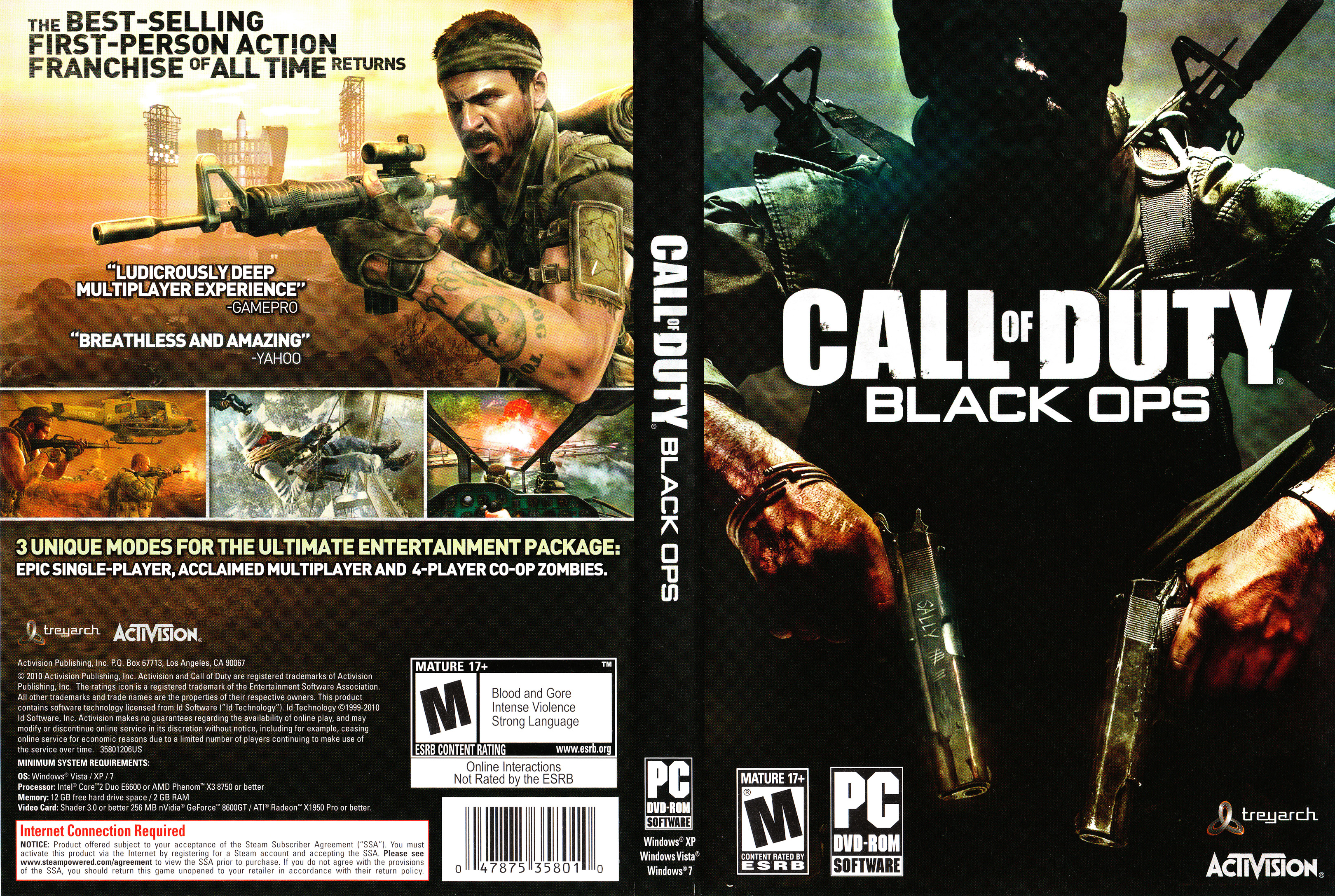 Resultado de imagen de Call of Duty Black Ops.PC cover